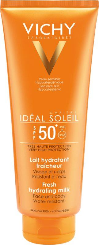 Vichy Idéal Soleil Capital védő tej a testre és az arcbőrre SPF 50+