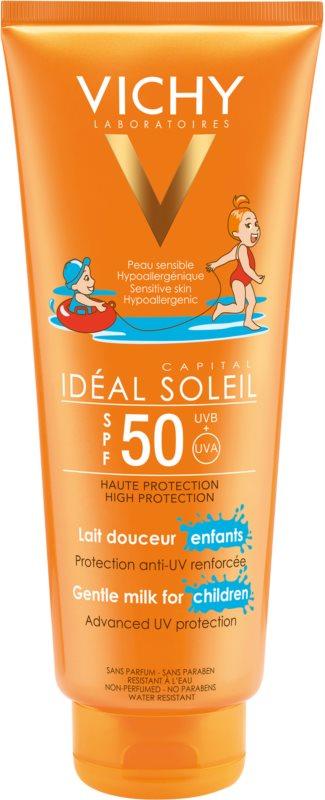 Vichy Idéal Soleil Capital zaščitno mleko za otroke za obraz in telo SPF 50