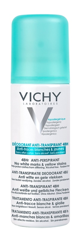 Vichy Deodorant Anti - Perspirant Deodorant Spray To Treat White And Yellow Stains