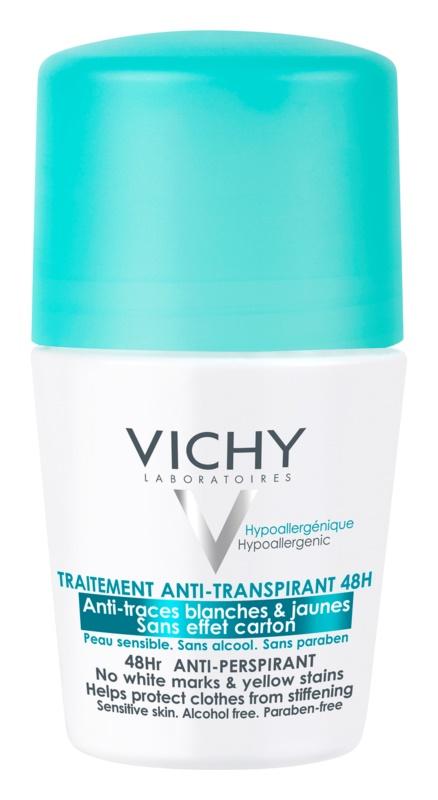 Vichy Deodorant antyperspirant roll-on przeciwko białym i żółtym śladom