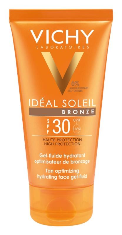 Vichy Idéal Soleil Bronze hydratačný gél-fluid na tvár optimalizujúci opálenie SPF 30