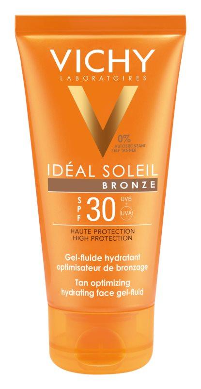 Vichy Idéal Soleil Bronze Tan Optimizing Hydrating Face Gel - Fluid SPF30