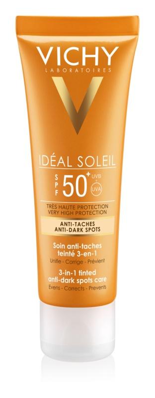 Vichy Idéal Soleil schützende Creme gegen Pigmentflecken SPF 50+