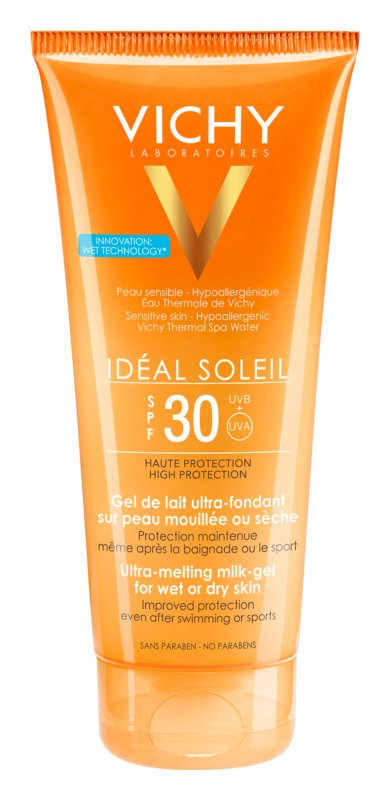 Vichy Idéal Soleil ultratající mléčný gel pro vlhkou nebo suchou pokožku SPF30