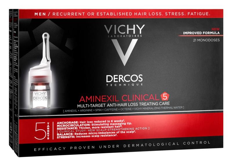 Vichy Dercos Aminexil Clinical 5 célzott ápolás hajhullás ellen uraknak