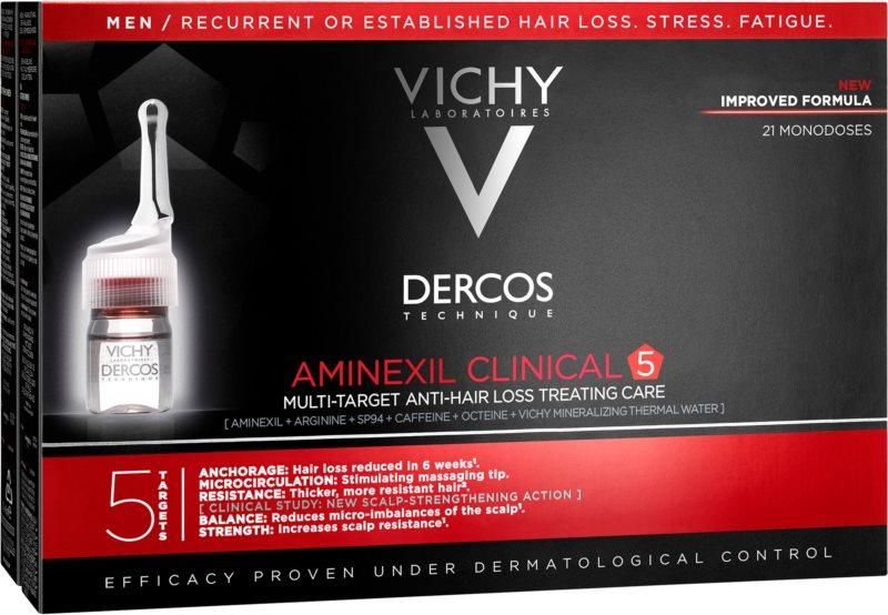 Vichy Dercos Aminexil Clinical 5 ciljna nega proti izpadanju las za moške