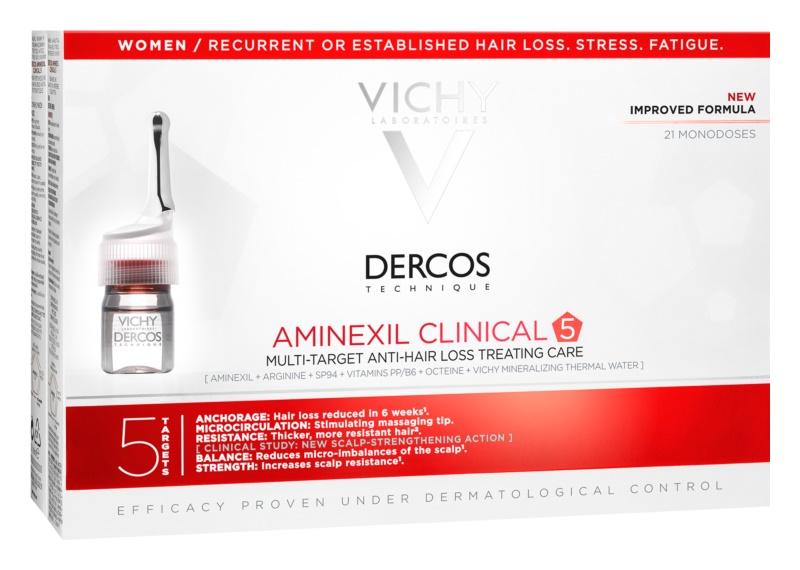 Vichy Dercos Aminexil Clinical 5 célzott ápolás hajhullás ellen hölgyeknek