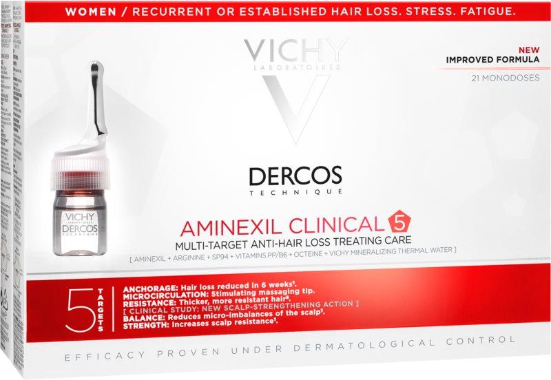 Vichy Dercos Aminexil Clinical 5 ciljana njega protiv opadanja kose za žene