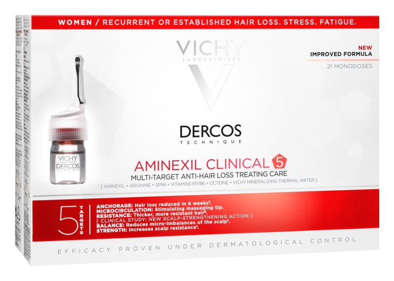 Vichy Dercos Aminexil Clinical 5 целенасочена грижа против косопад за жени