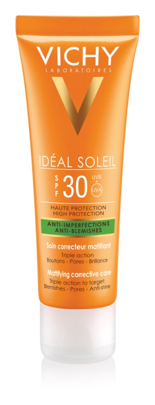 Vichy Idéal Soleil Capital Matte Sunscreen On Your Face for Oily and Combiantion Skin