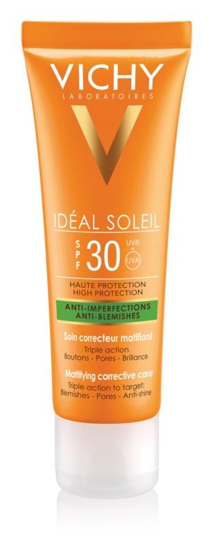 Vichy Idéal Soleil Capital сонцезахисний матуючий крем для обличчя для комбінованої та жирної шкіри