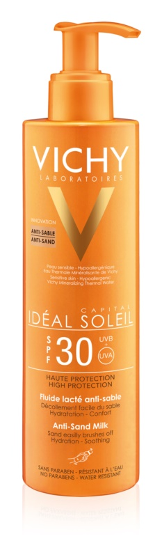 Vichy Idéal Soleil Capital mleko za sončenje proti pesku SPF 30