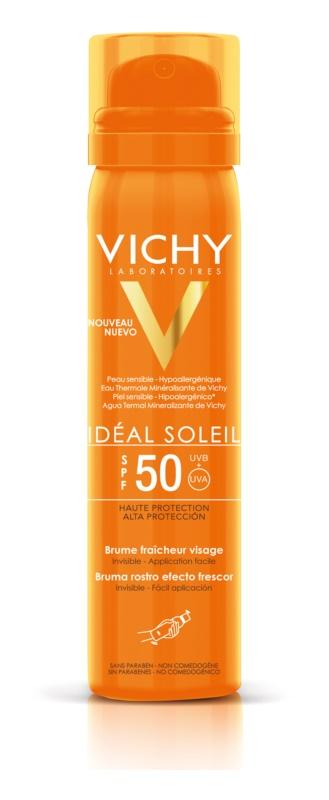 Vichy Idéal Soleil osviežujúci opaľovací sprej na tvár SPF 50
