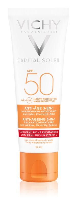Vichy Idéal Soleil Anti-age schützende Creme gegen Hautalterung SPF 50