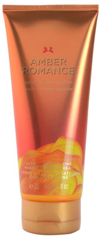Victoria's Secret Amber Romance Amber & Créme Anglaise telový krém pre ženy 200 ml