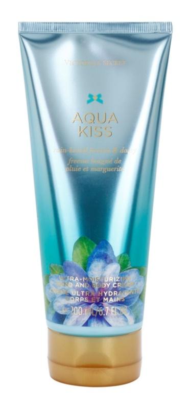 Victoria's Secret Aqua Kiss Rain-kissed Freesia & Daisy Körpercreme für Damen 200 ml
