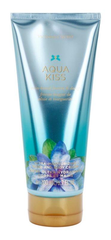 Victoria's Secret Aqua Kiss Rain-kissed Freesia & Daisy telový krém pre ženy 200 ml