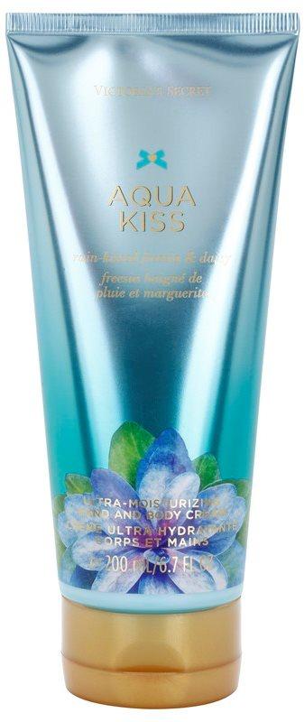 Victoria's Secret Aqua Kiss Rain-kissed Freesia & Daisy tělový krém pro ženy 200 ml