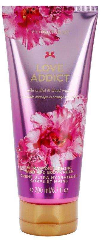 Victoria's Secret Love Addict Wild Orchid & Blood Orange telový krém pre ženy 200 ml