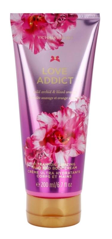 Victoria's Secret Love Addict Wild Orchid & Blood Orange tělový krém pro ženy 200 ml