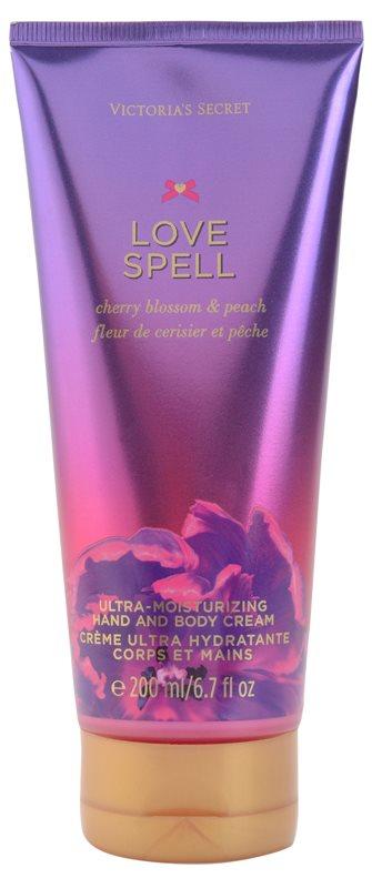 Victoria's Secret Love Spell Cherry Blossom & Peach tělový krém pro ženy 200 ml