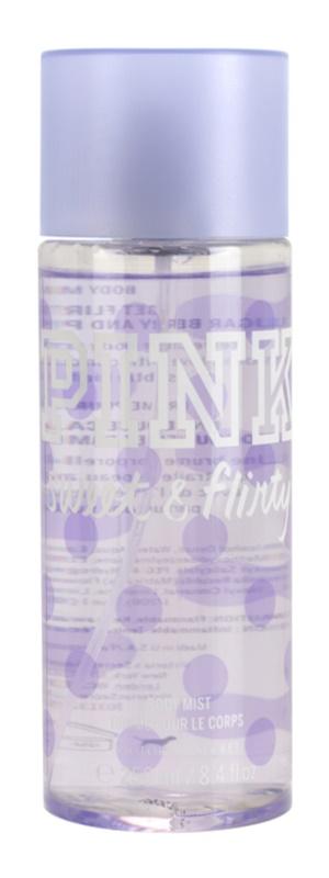 Victoria's Secret Pink Sweet and Flirty tělový sprej pro ženy 250 ml