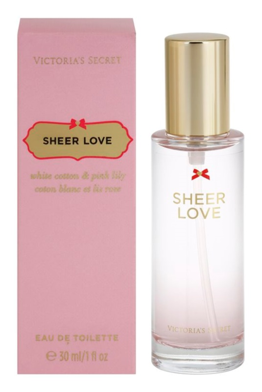 Victoria's Secret Sheer Love White Cotton & Pink Lily eau de toilette pentru femei 30 ml