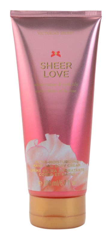 Victoria's Secret Sheer Love White Cotton & Pink Lily Bodycrème voor Vrouwen  200 ml