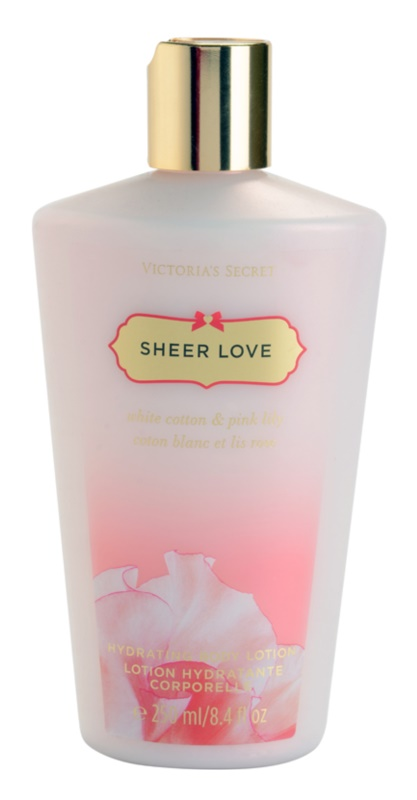 Victoria's Secret Sheer Love White Cotton & Pink Lily leite corporal para mulheres 250 ml