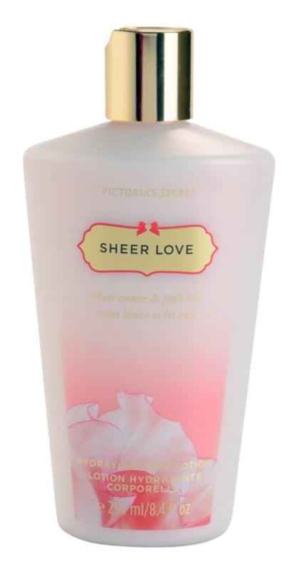 Victoria's Secret Sheer Love White Cotton & Pink Lily tělové mléko pro ženy 250 ml