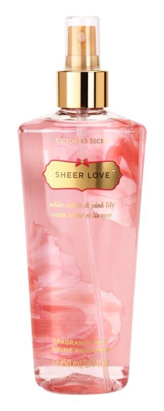 Victoria's Secret Sheer Love White Cotton & Pink Lily Body Spray for Women 250 ml