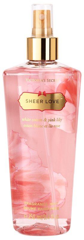 Victoria's Secret Sheer Love White Cotton & Pink Lily spray pentru corp pentru femei 250 ml