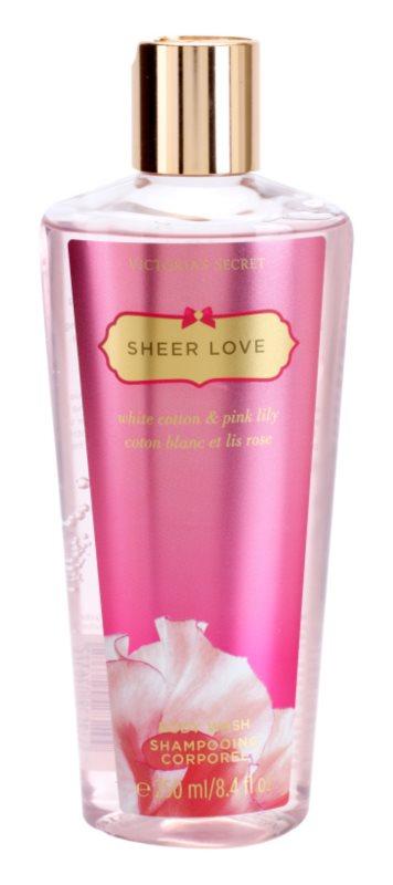Victoria's Secret Sheer Love White Cotton & Pink Lily Douchegel voor Vrouwen  250 ml