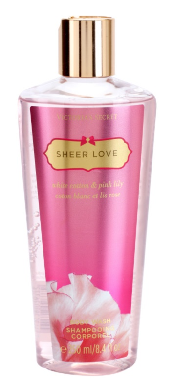 Victoria's Secret Sheer Love White Cotton & Pink Lily żel pod prysznic dla kobiet 250 ml