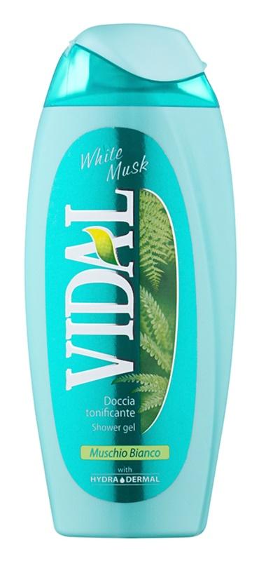 Vidal White Musk gel douche pour femme 250 ml
