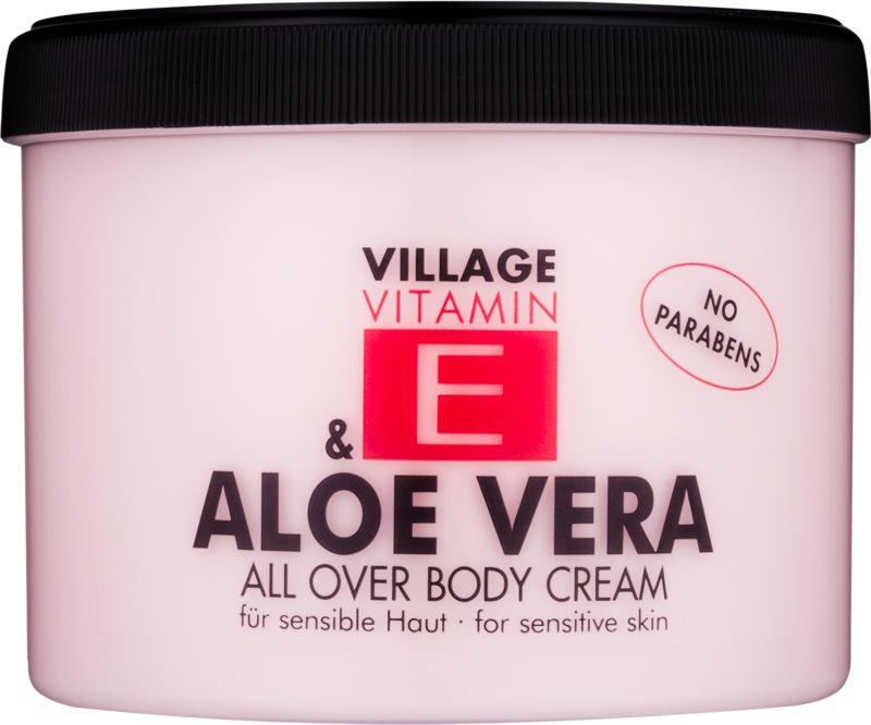 Village Vitamin E Aloe Vera crema de corp