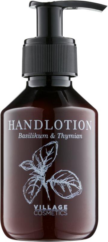 Village Herbal Basil & Thyme crema de maini