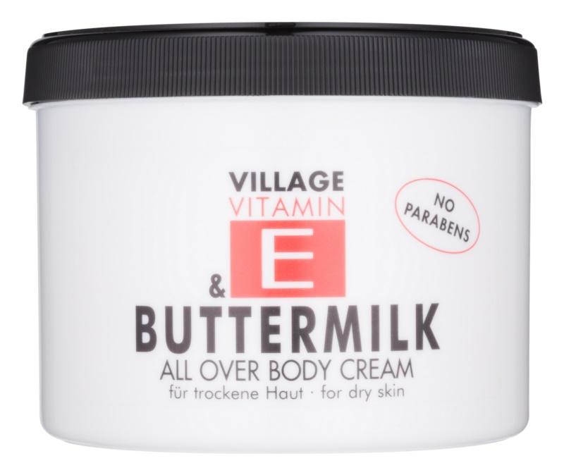 Village Vitamin E Buttermilk telový krém