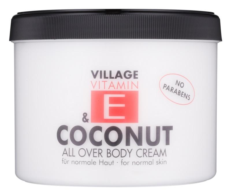 Village Vitamin E Coconut telový krém