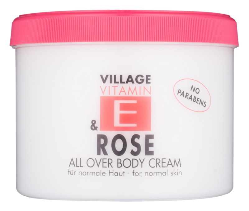 Village Vitamin E Rose krema za telo