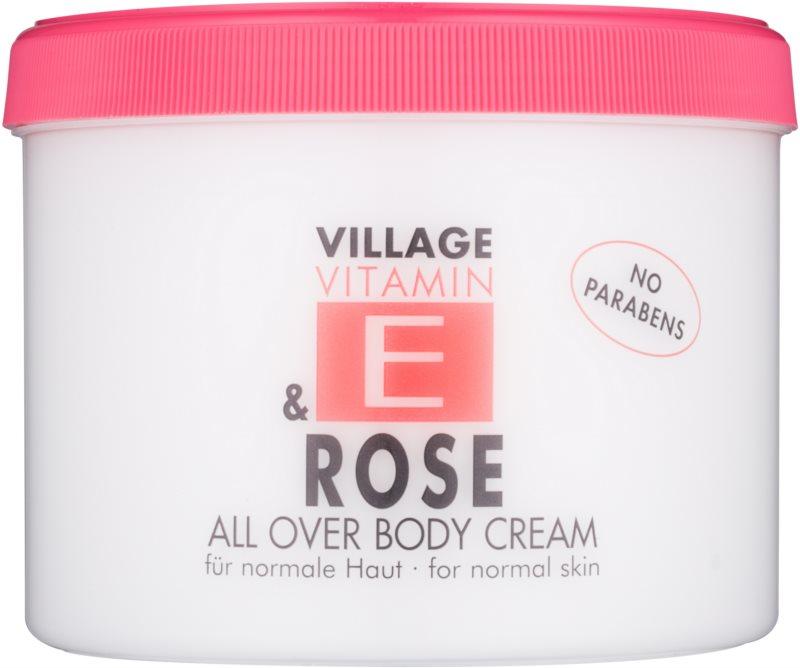 Village Vitamin E Rose telový krém