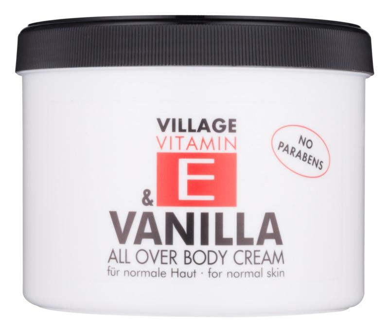 Village Vitamin E Vanilla telový krém