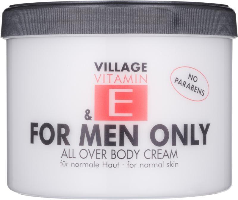 Village Vitamin E For Men Only telový krém