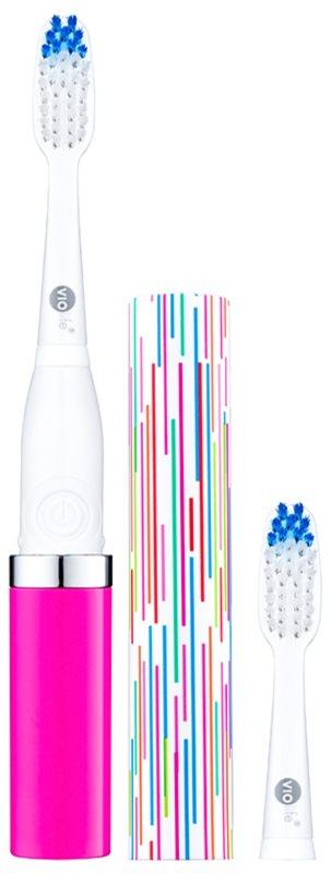 Violife Slim Sonic Tickled Pink cepillo de dientes sónico eléctrico con cabezal de recambio