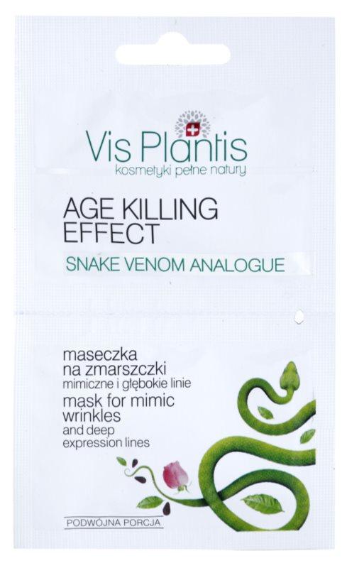 Vis Plantis Age Killing Effect protivrásková maska na tvár s hadím jedom