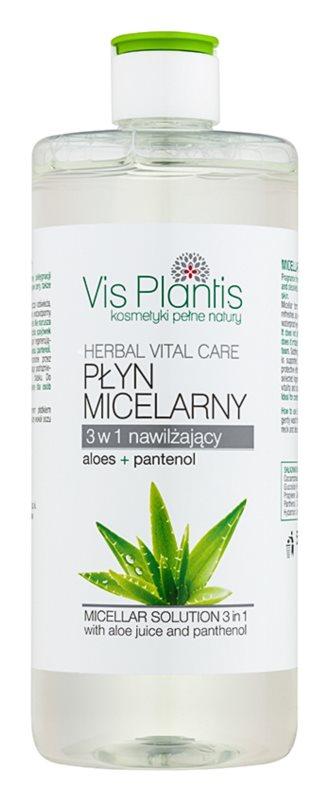 Vis Plantis Herbal Vital Care Aloe Juice & Panthenol agua micelar 3 en 1