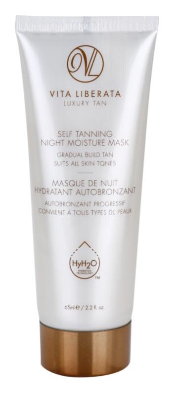 Vita Liberata Skin Care máscara de noite hidratante com efeito autobronzeador