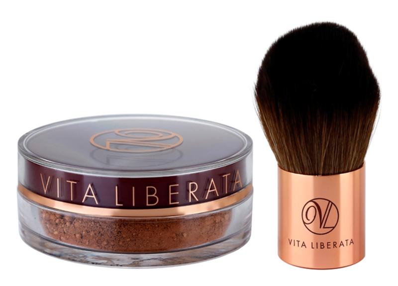 Vita Liberata Trystal Minerals bronz puder s čopičem