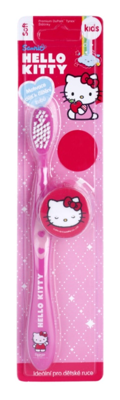 VitalCare Hello Kitty zubná kefka pre deti s cestovným krytom