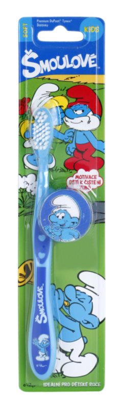 VitalCare The Smurfs zubná kefka pre deti s cestovným krytom
